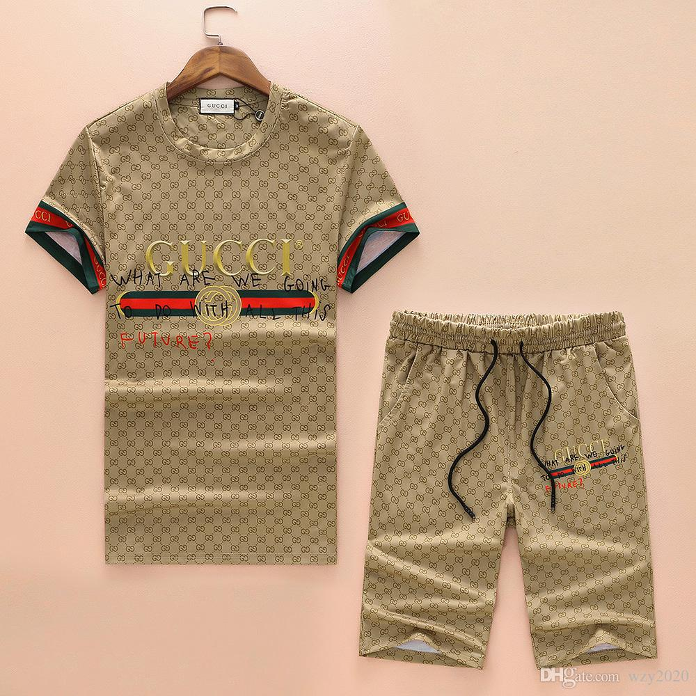 8GUCCI The new 2019 summer casual men's wear is paired with a loose high-end men's short-sleeved T-shirt and polo shirt #9698