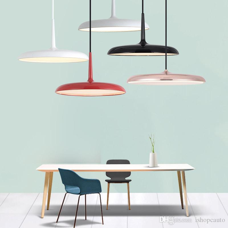 Popular Brand Modern Rectangle Led Pendant Light Slim Aluminum Hanging Light Dining Room Kitchen Island Study Table Suspended Lighting Fixture Lights & Lighting