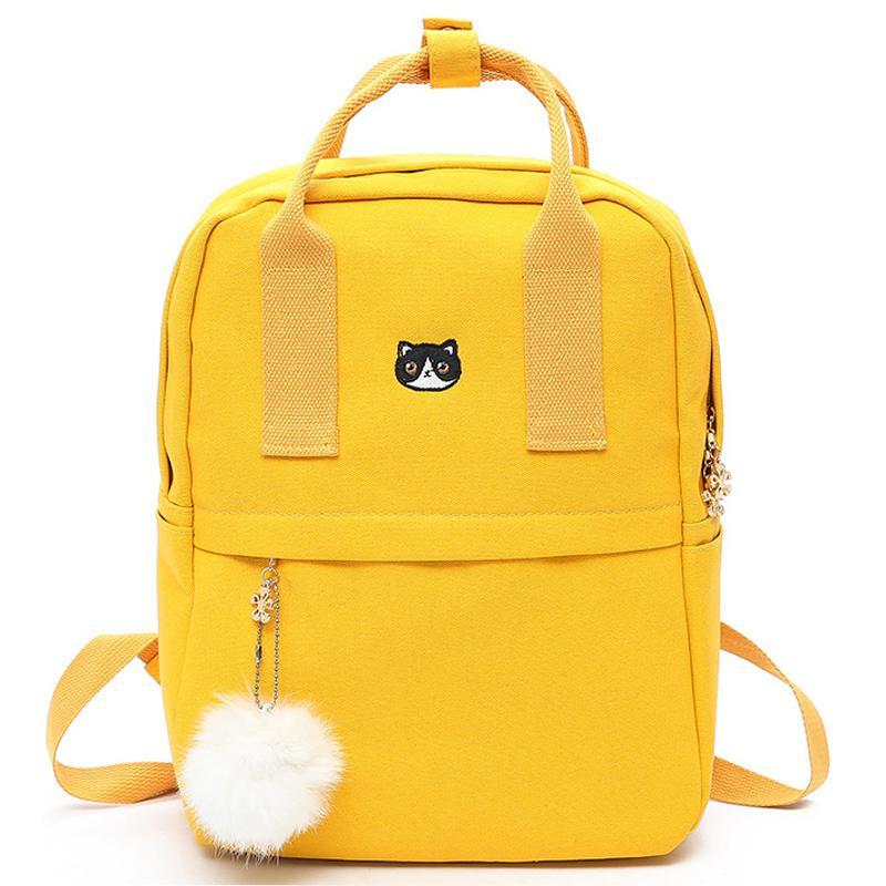 5f642b52cac4 2019 FashionHairball Preppy Style Canvas Female Backpack For Teenager Girls School  Bag Fashion Cute Backpack Bookbag Mochila Feminina Backpack With Wheels ...
