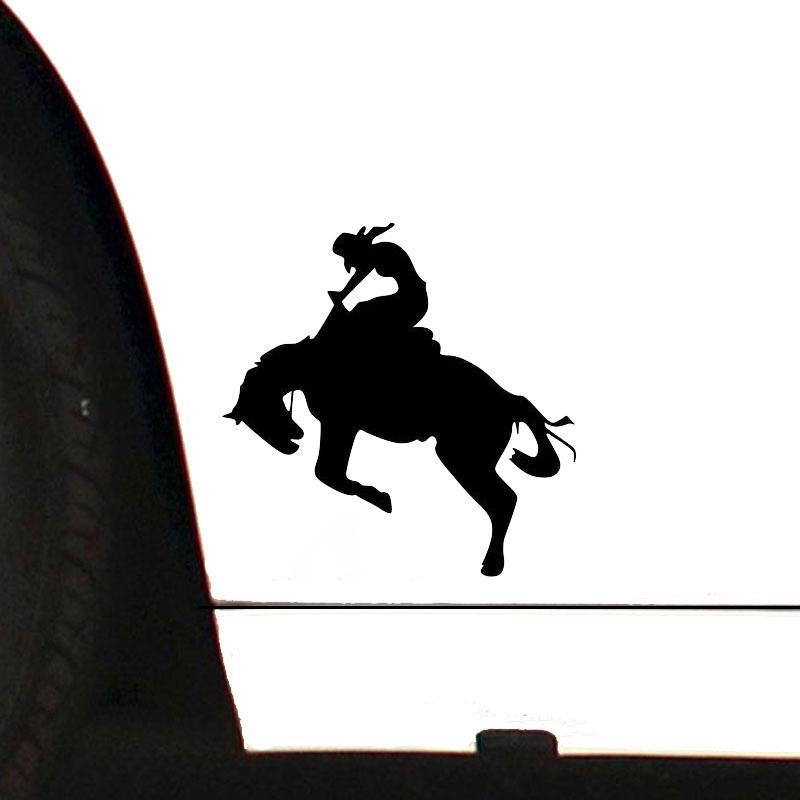 15 15 Cm Cowgirl Auf Pferd Cooles Auto Aufkleber Aufkleber Für Lkw Fenster Dekoration Mode Autos Vinyl Decor Decals