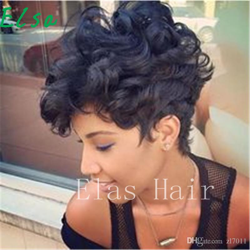 Human Hair Wigs For Black Women 100% Human Hair Short Curly Wigs With Bangs  Machine Made Fashion Wigs Fake Wigs Crossdresser Wigs From Zl7011 64beb4c7f1