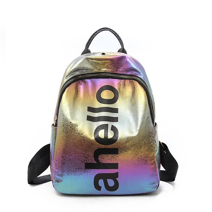 New Korean Version Backpack Women Fashion Tide Large Capacity Sequins Bag  Versatile School Bags For Teenage Girls Gift Back Packs Rolling Backpacks  From ... 9438e01206a9