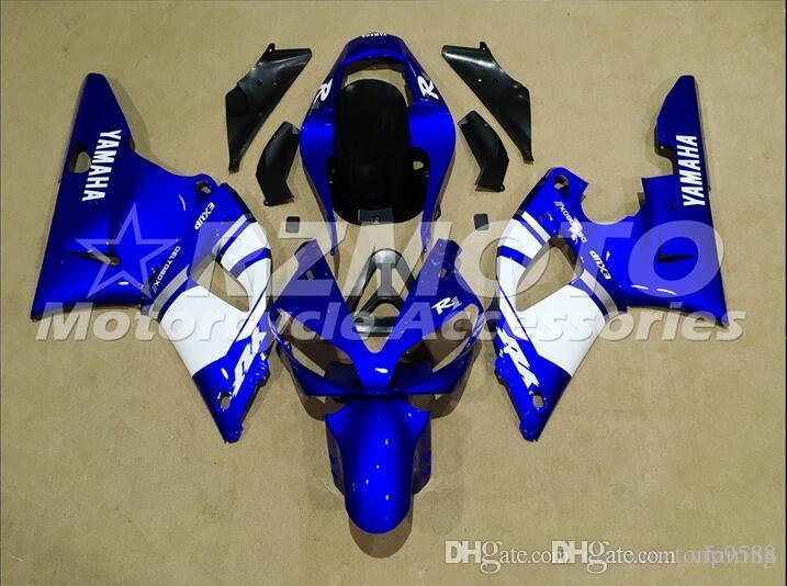 3 Free Gifts New motorcycle Fairings Kits For YAMAHA YZF-R1 2000 2001 r1 00 01 YZF1000 Blue White S1