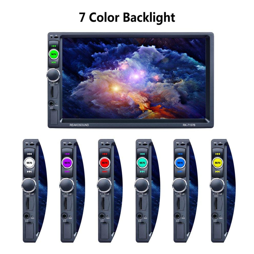 "7"" HD LCD Touch Screen 800*480 Car MP5 Player 1080P 7 Color Button Back Light Mirror Link FM/AM/RDS Tuner RK-7157B"