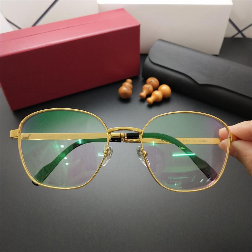 cf19ec6f817 2019 Men Titanium Glasses Famous Designer Retro Full Frame Glasses ...