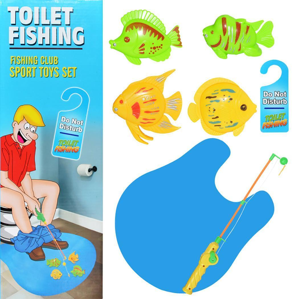 New Fashion Toilet Fishing Game Toy Innovative Fish Game Magnetic Toy for Adults Kids New Plastic Toy Fish