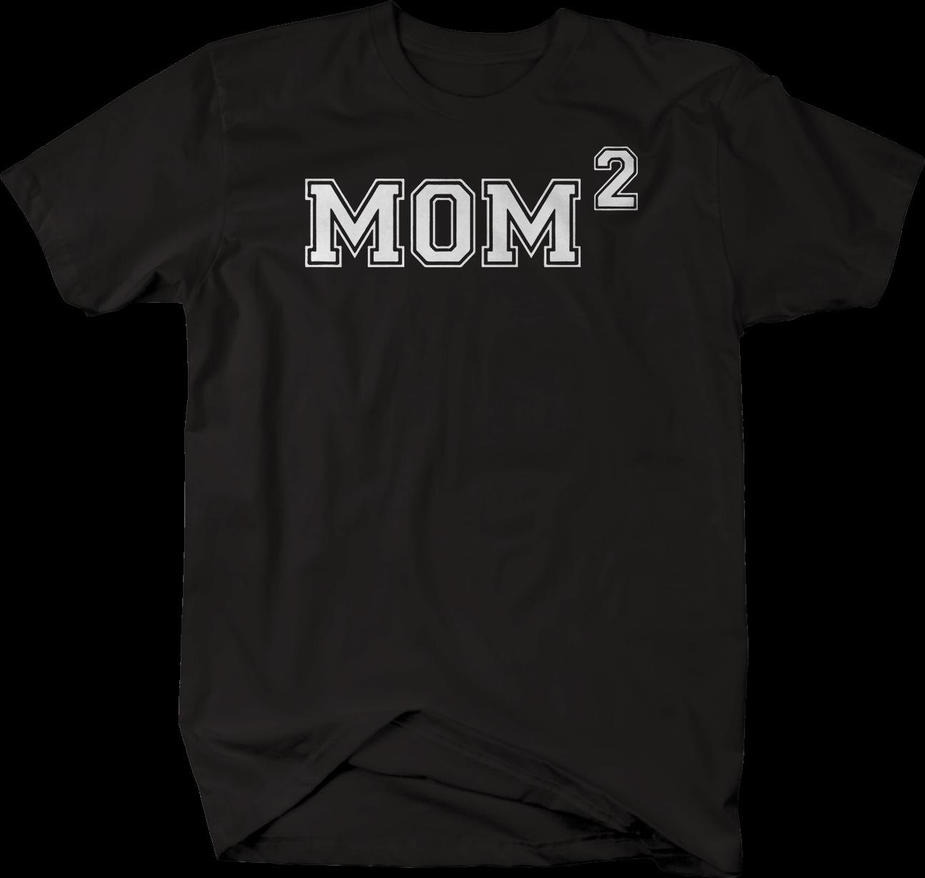 Mom 2 Kids Squared Tshirttees Custom Jersey T Shirt Cool Funny T