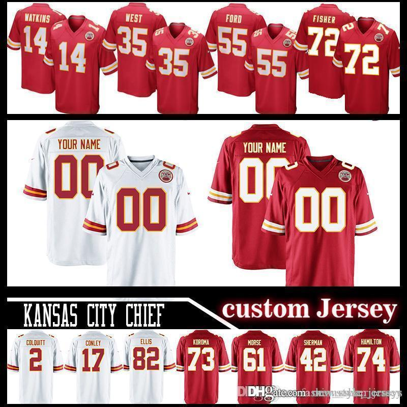 549139f59 City Chief Custom Kansas Jerseys 19 Joe Montana Jersey 58 Derrick ...