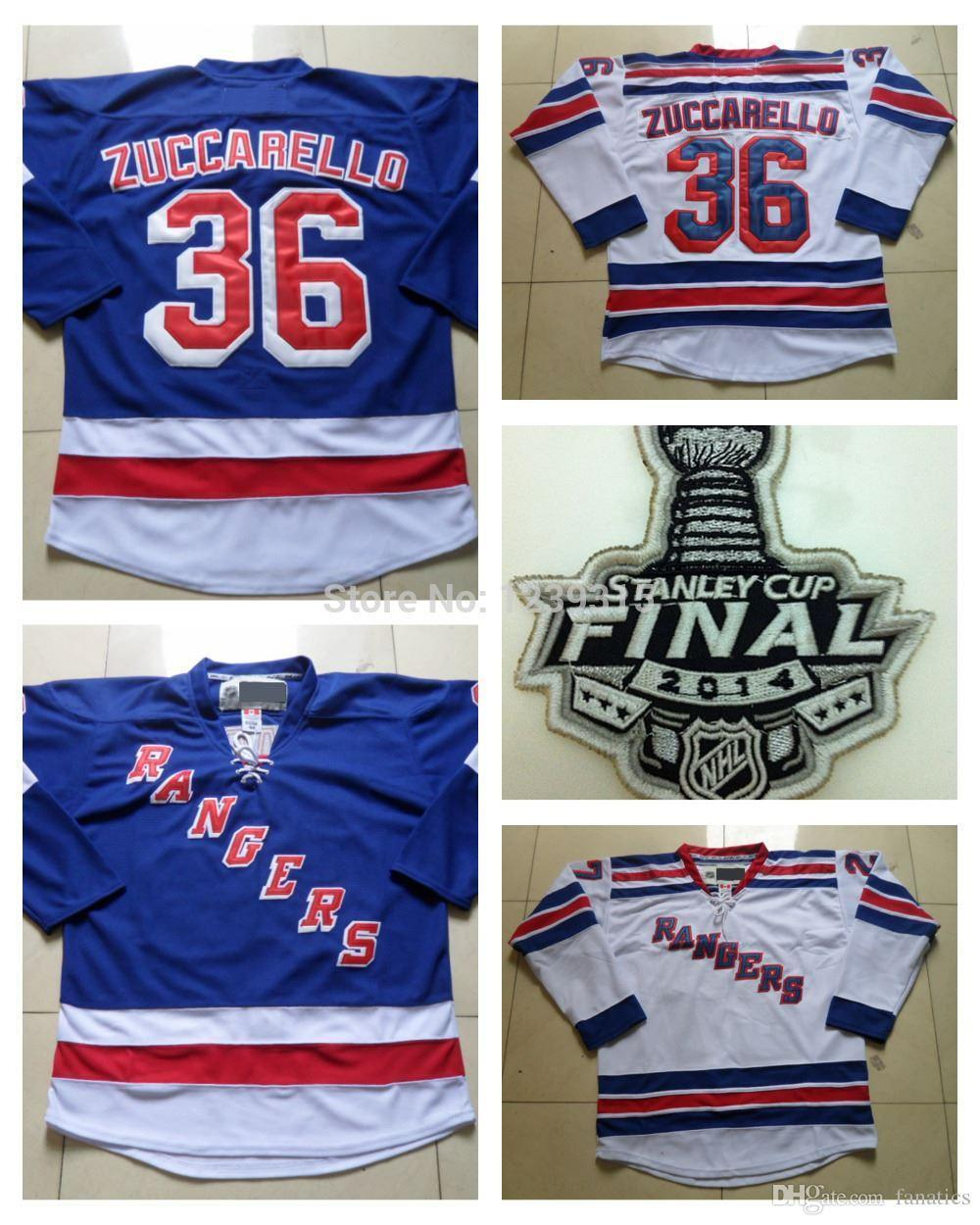 huge selection of 384bb b9cea 2016 Stanley Cup New York Rangers Jerseys #36 Mats Zuccarello Jersey Home  Royal Blue Road White Mats Zuccarello Stitched Jerseys