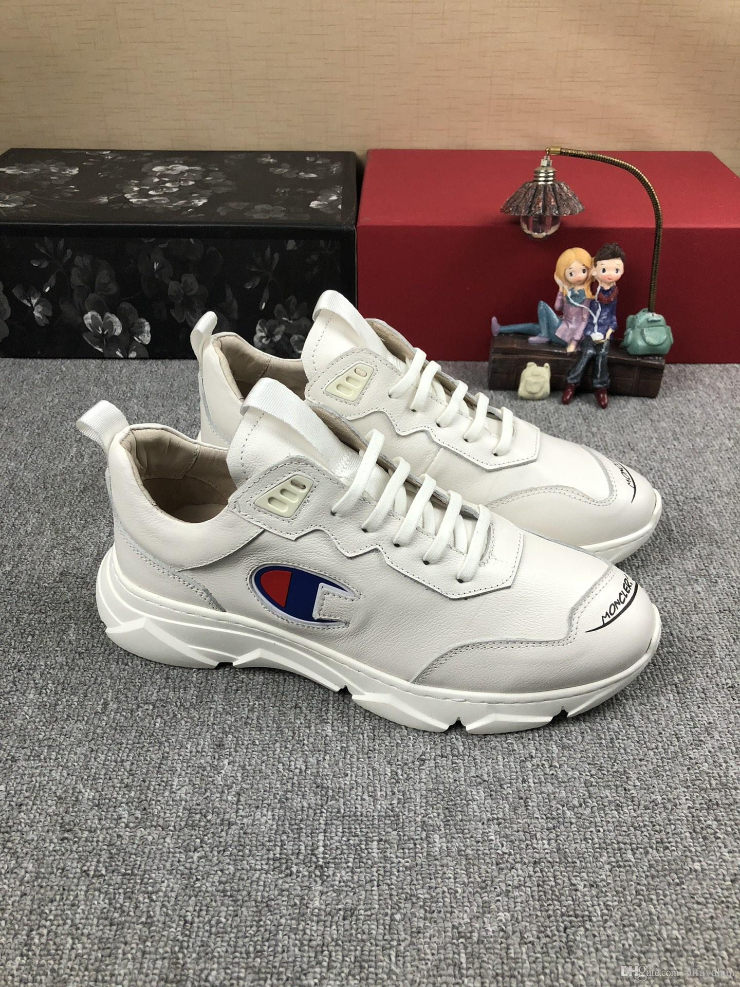 54463f668eb 2019 new low men's casual shoes comfortable breathable outdoor sports shoes  classic white running shoes DHL fast delivery
