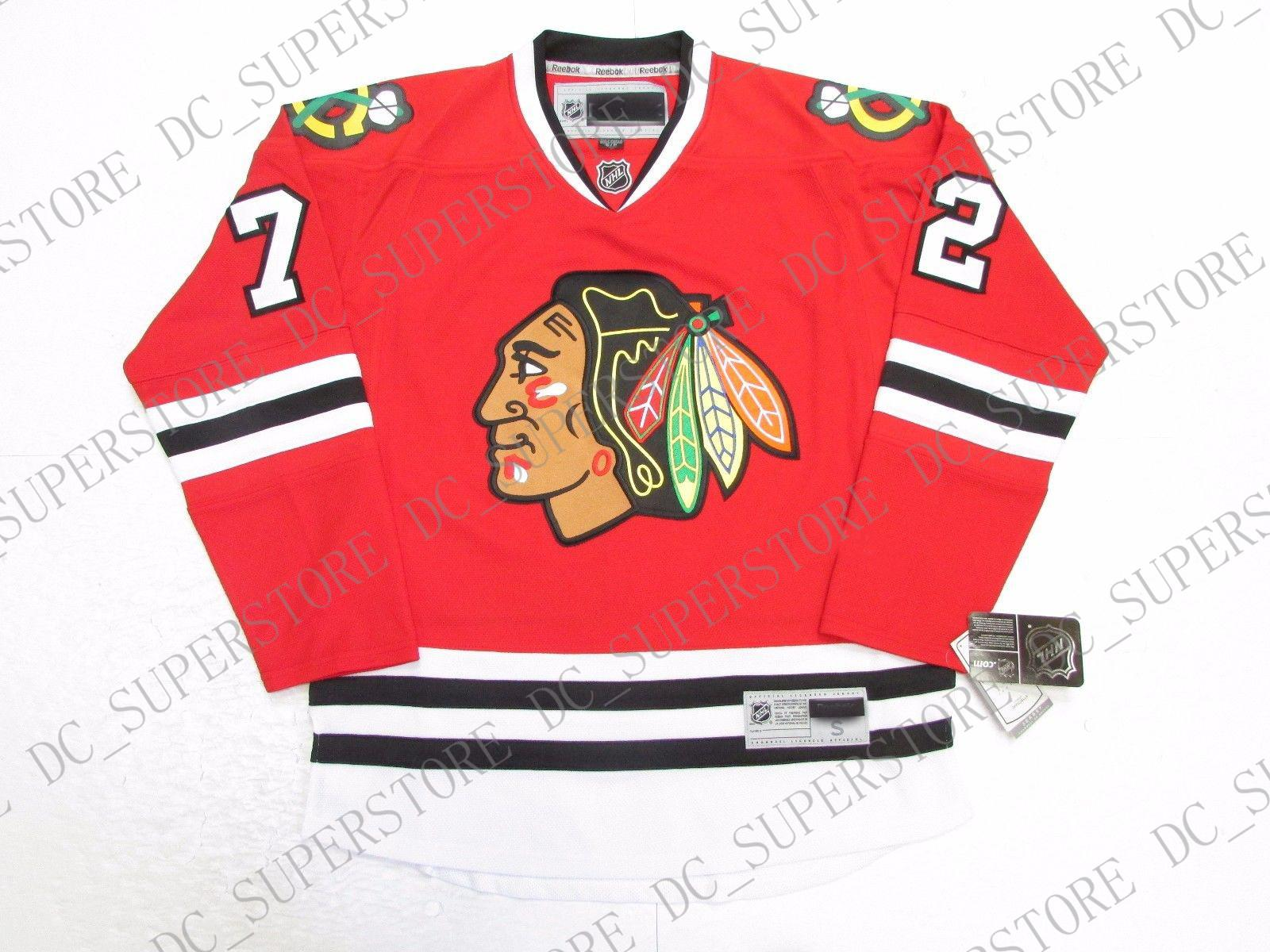 hot sale online d342d b5c4f Cheap custom ARTEMI PANARIN CHICAGO BLACKHAWKS HOME PREMIER 7185 HOCKEY  JERSEY stitch add any number any name Mens Hockey Jersey XS-5XL
