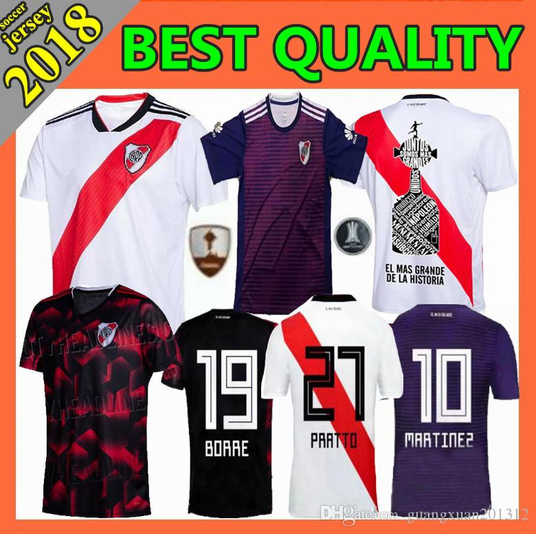 4c94d2b6fe9 2019 Size S XXL 2019 New River Plate Soccer Jerseys Home Away 2019 2020  Riverbed MARTINEZ QUINTERO PRATTO Football Shirts From Guangxuan201312