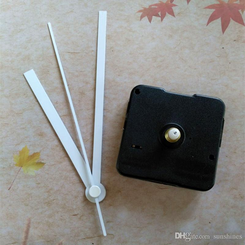 Wholesale 50PCS 12MM Shaft Quartz Clock Mechanism FIT-UP with White Hands DIY Repair Kits Free Shipping