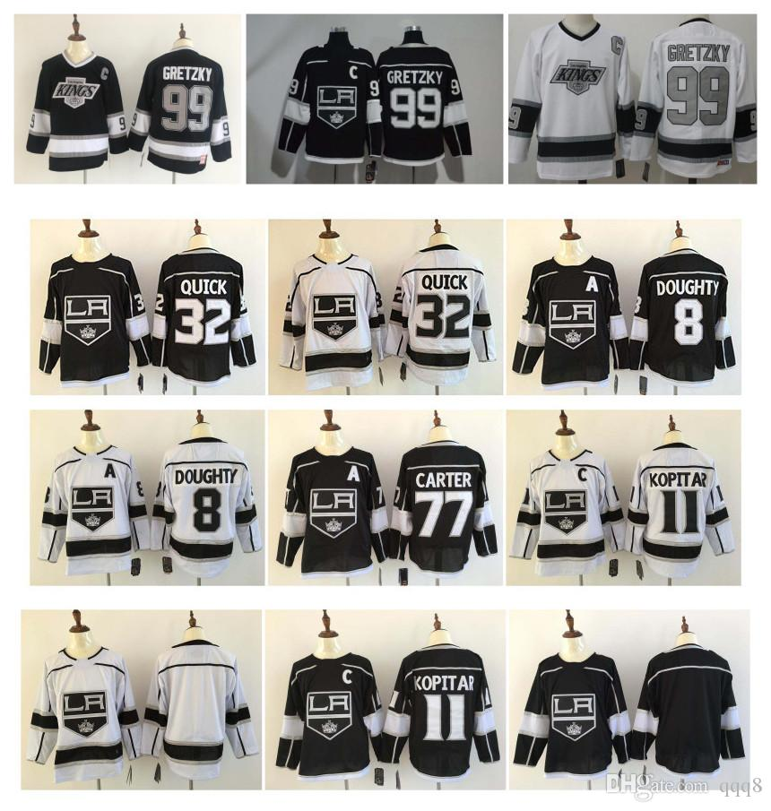 buy online 7e1ef ef865 NHL LA Los Angeles Kings Jersey 99 Wayne Gretzky 11 Anze Kopitar 32  Jonathan Quick 8 Drew Doughty 77 Jeff Carter Stitched Hockey Jersey