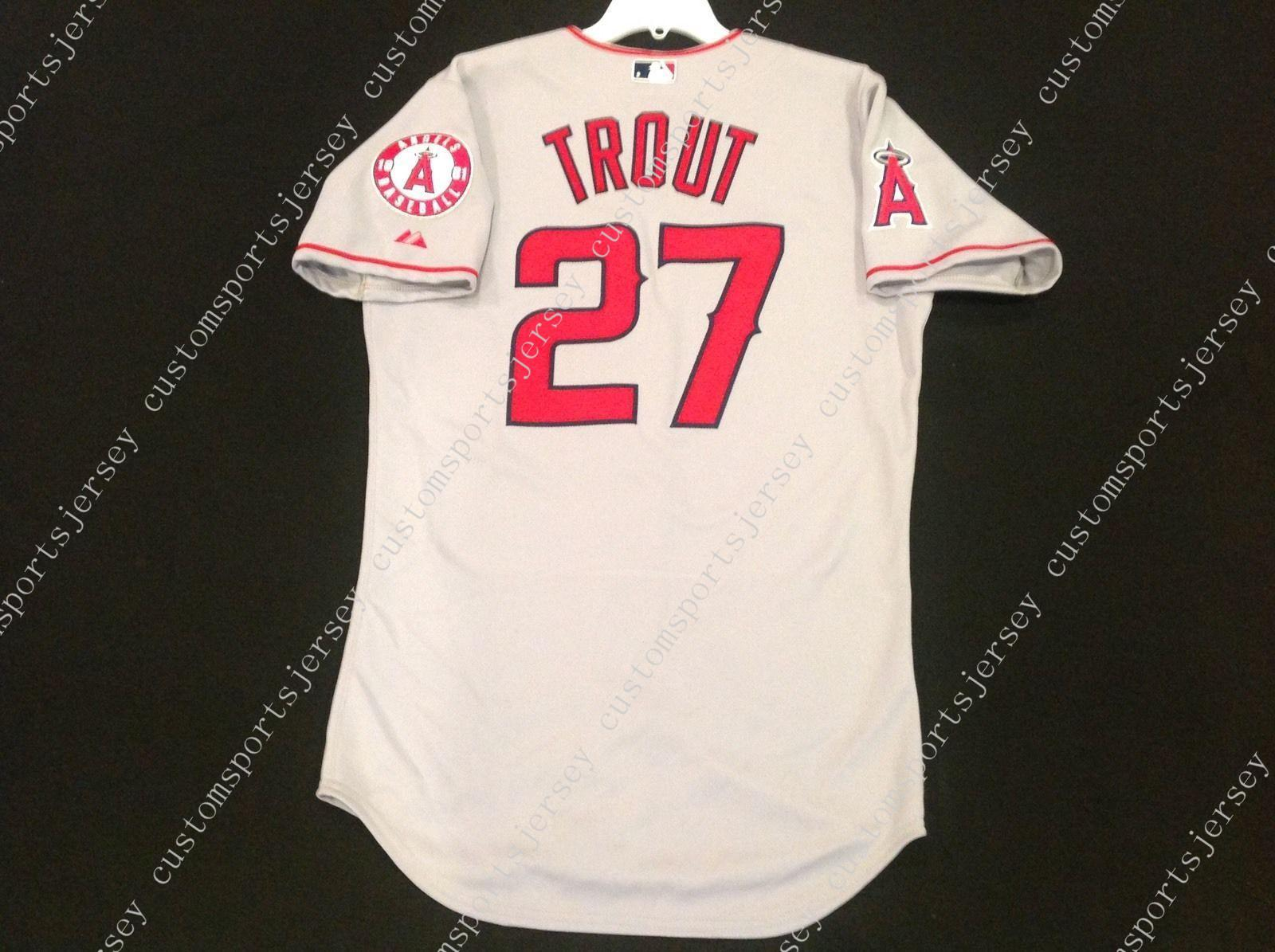 timeless design 632f3 5d1a5 best price mike trout jersey number eaf1e 4c7c0