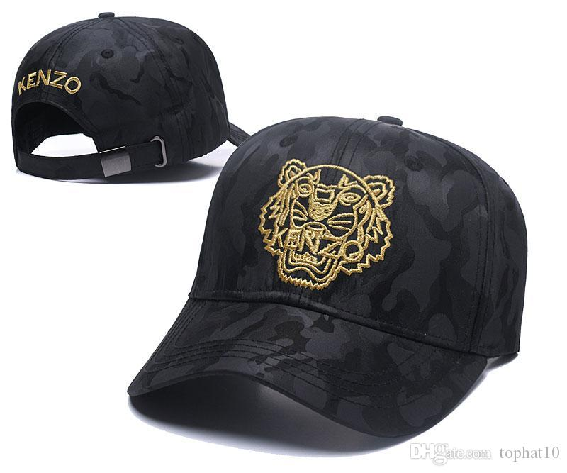 TOP Designer Men Baseball Caps Snapback Dad Hats Gold Tiger Emroidered Bone  Men Women Casquette Sun Hat Gorras Golf Sport Cap Drop Shipping Trucker Cap  ... 0d0d2a376