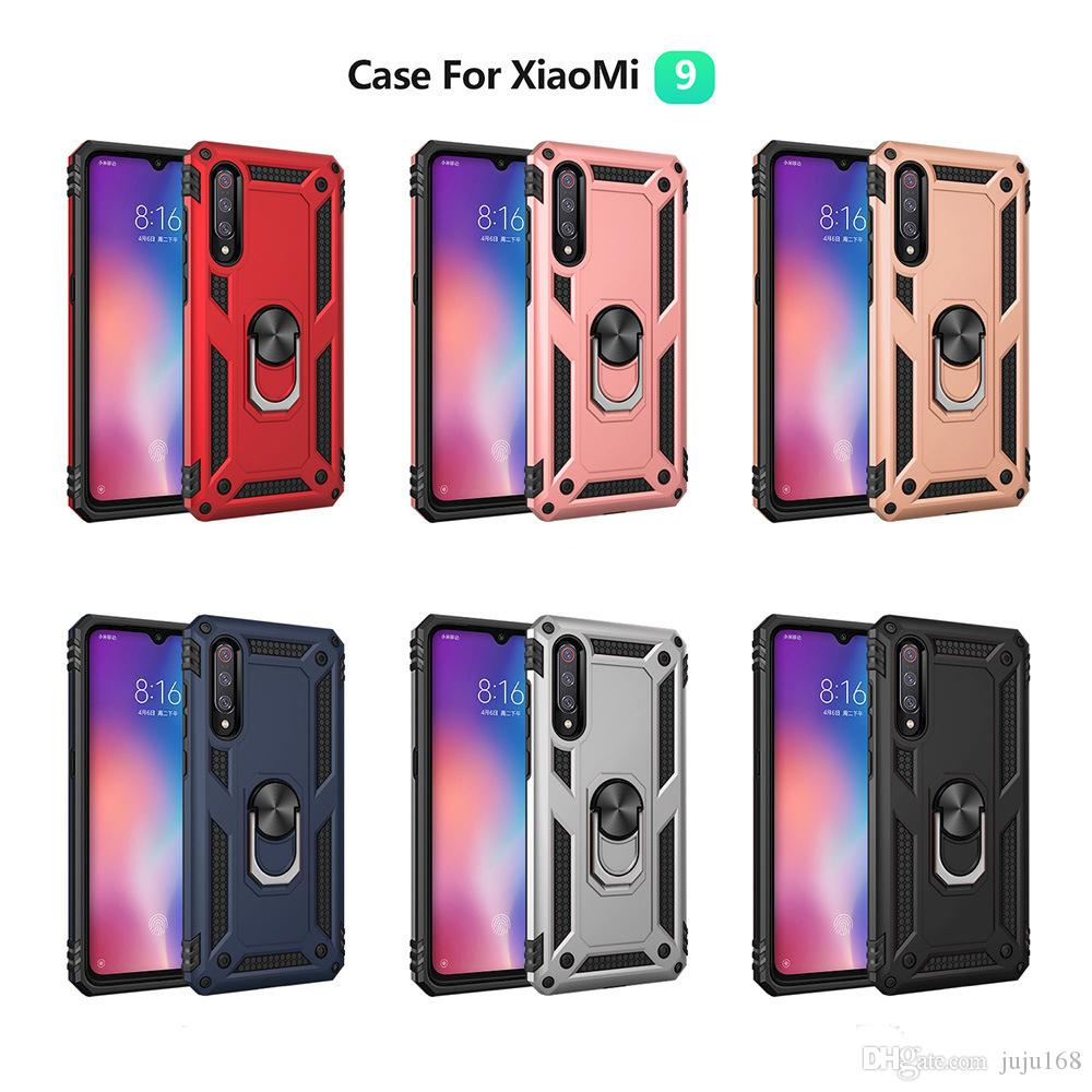 For Xiaomi 9 and 9 SE Note 7 Pro Military Drop Cases 360 Ring Holder Magnetic Car Mount Cover For Mobile Phone Case