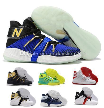 San Francisco f7ba9 0c6af New Balance Chaussures de basket-ball Hommes Homme Kawhi Leonard OMN1S 2  Way Playoff NK High Cut Bleu 2019 Designer De Luxe Chaussure Basket Ball ...