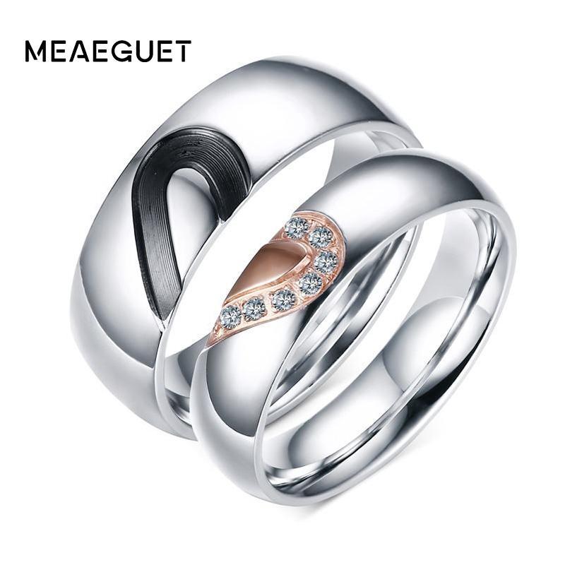 86c7b27b84 ring for Meaeguet Romantic CZ Stone Ring For Lover Rose Gold