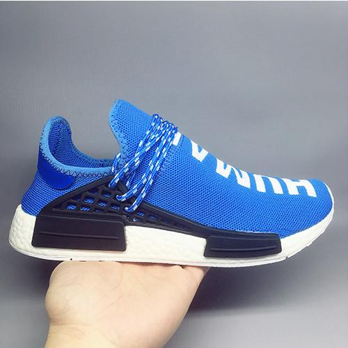 1a95f839e 2018 Hot Pharrell Williams X Women Men Running Shoes Human Race NMD Sports  Shoes Athletic Outdoor Shoes Noble Ink Yellow Blue Wholesale Shoe Boots  Fashion ...