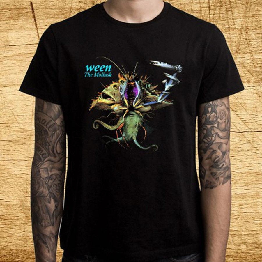 d5067942f18a New Ween The Mollusk Rock Band Logo Men S Black T Shirt Size S 3XL Funny  Unisex Casual Tshirt Top T Shirt S Tees Shirts From Thetoynation