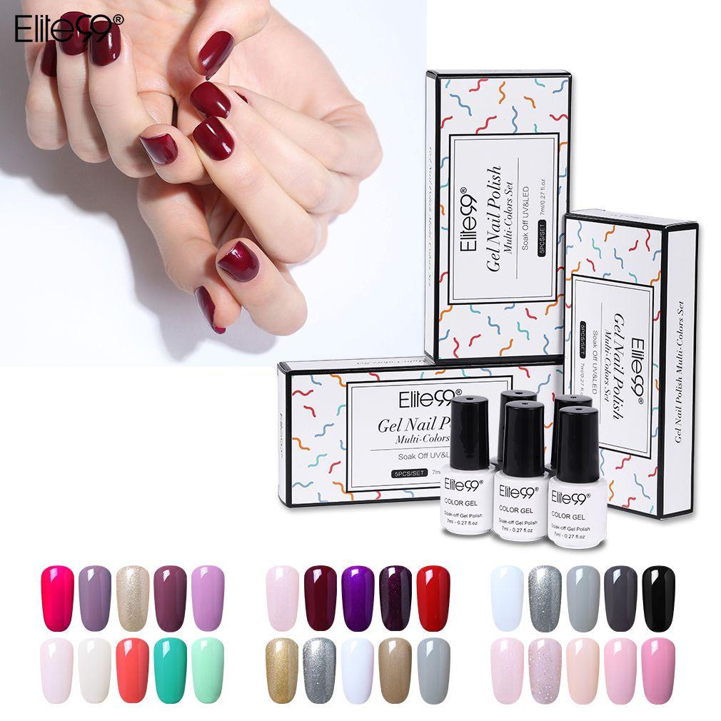 Elite99 Gift Sets Box 7ml Uv Hot Sales Color Pure Color Gel Polish