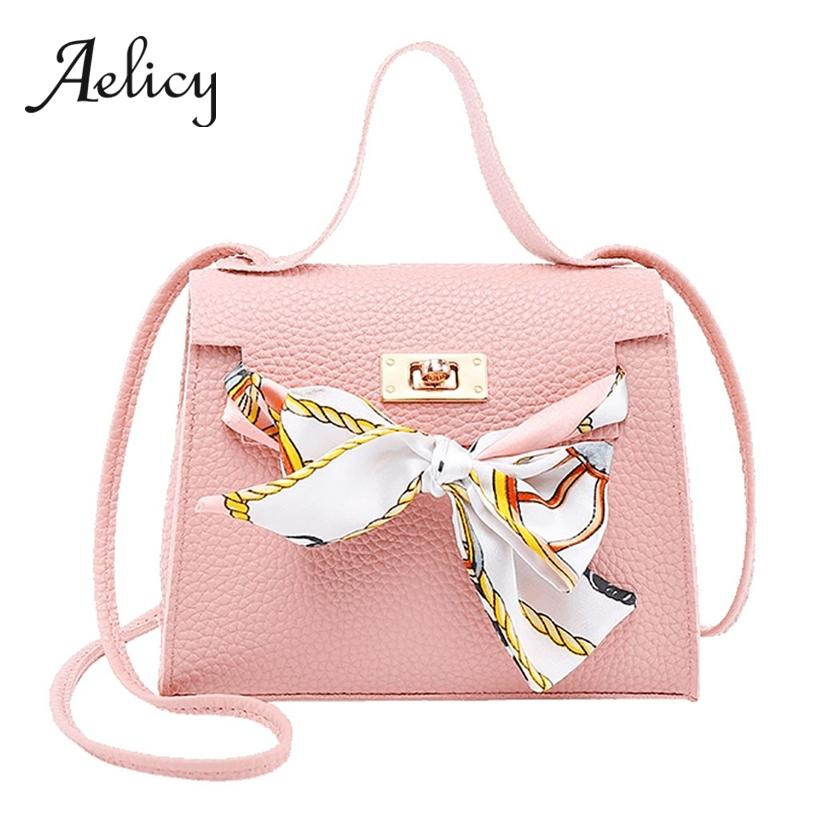 Aelicy Women Elegant Style Sling Shoulder Bag With Scarf Quality Leather Female Tote Bag Metal Buckle Lady Square Handbags