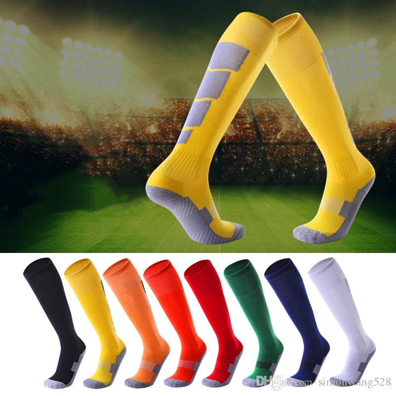 Wholesale Adult Football Soccer Socks Non-slip Thicked Bottom Stockings Sports Cycling Socks Sweat-absorbing Club Game School Team Socks
