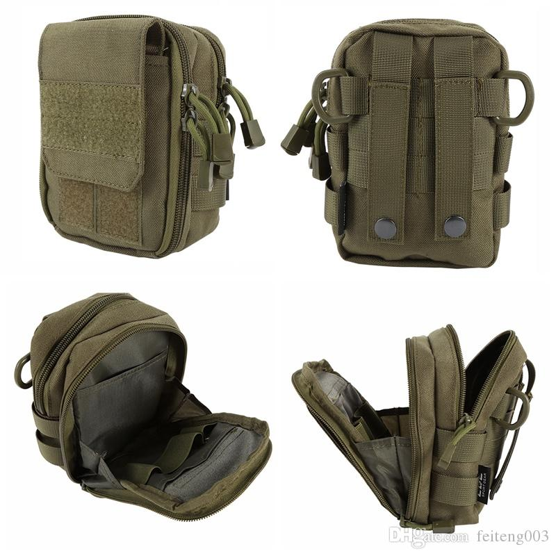 New Tactical Military Hunting Small Utility Pouch Pack Army Molle Cover Scheme Field Sundries Bags Outdoor Sports Mess Briefcase #109090