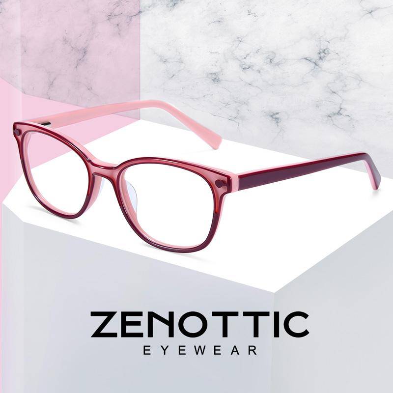 768e3870ec95 2019 ZENOTTIC Pink Acetate Glasses Frame Girls Myopia Optical Spectacles  Frames Child Cute Transparent Fashion Eyeglasses Frames 2019 From  Ericgordon, ...