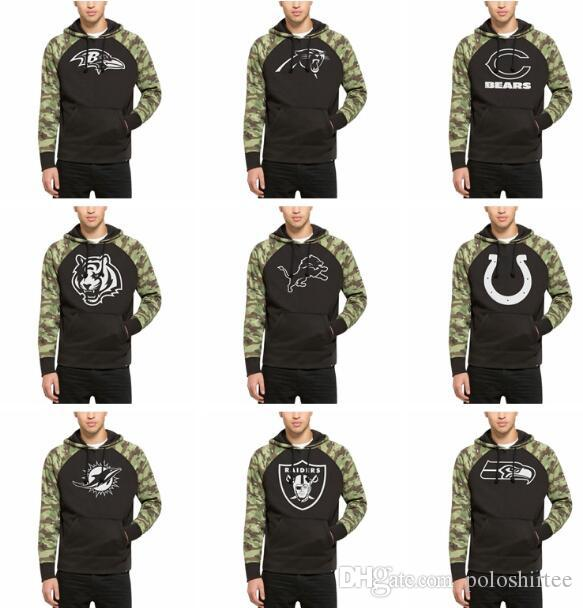 detailed look c4e90 70d7a Men Women Baltimore Ravens Chicago Bears Hoodies Detroit Lions Miami  Dolphins Oakland Raiders Seattle Seahawks Black Alpha Hoodies