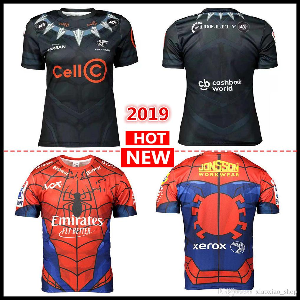 99d723b4b5c 2019 Commemorative Edition 2019 Durban The Sharks Rugby Jerseys South  Africa Super Rugby Shirt League Jersey S 3XL From Xiaoxiao_shop, $17.26 |  DHgate.Com