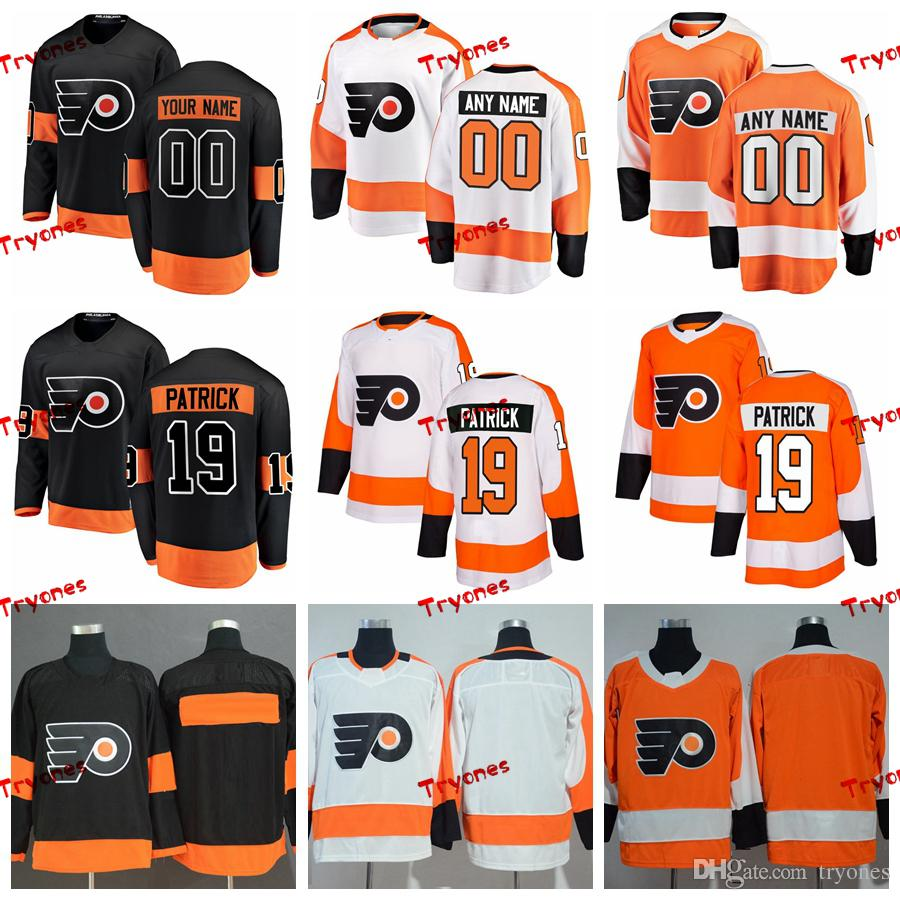 5ec6dba5be2 2019 2019 Nolan Patrick Philadelphia Flyers Stitched Jerseys Customize Home  New Alternate Black Shirts  19 Nolan Patrick Hockey Jerseys S XXXL From  Tryones
