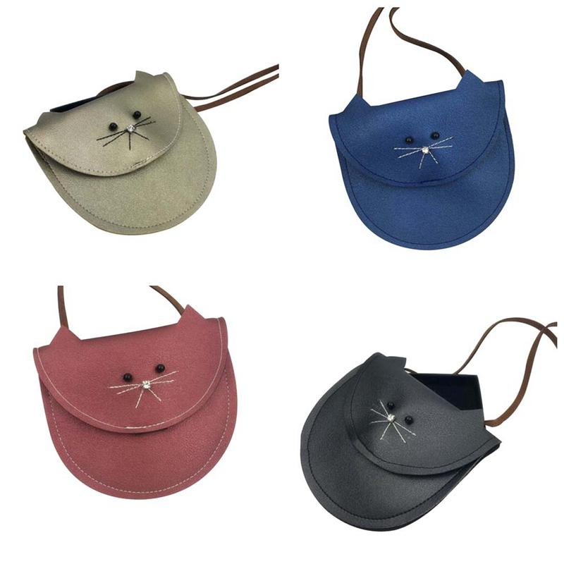 Luggage & Bags Hottest Small Cat Messenger Bag For Kids Baby Girls Cute Cat Coin Purse Mini Shoulder Bag Children Small Bag