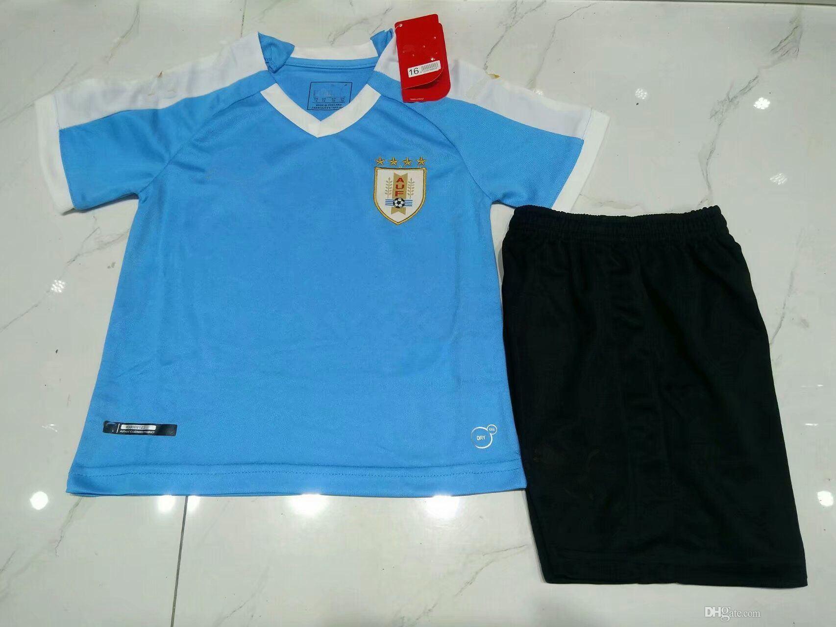 f7deec4e60d75 Copa América 2019 2020 Uruguay Niños Fútbol Jersey 19 20 L.SUAREZ E.CAVANI  En Casa Camisetas De Fútbol Para Niños Por Xx416764580