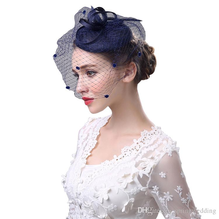 f7001e85f7ab6 Black Bird Cage Net Wedding Bridal Fascinator Hats Face Veil Feather Tulle  For Masquerade Party Prom Bridal Accessory CPA1923 Hats With Veils Hats  Womens ...