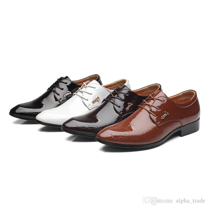 23ff84cf4e49 Luxury Brand Formal Shoes Men Pointed Toe Men Dress Shoes Leather Men  Business Casual Oxford Formal Shoes For Fashion Breathable Designer Shoes  High Heel ...
