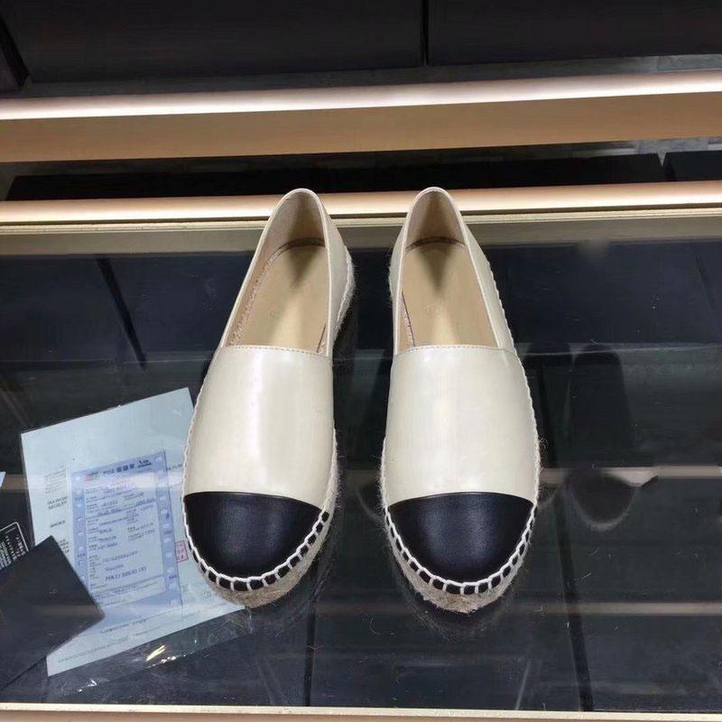 3a40d8ea Marca de lujo Alpargatas Cordón de Cuero Genuino Plataforma Alpargatas de  Las Mujeres Pisos Mocasines Zapatos Cuñas Moda Damas Sandalias Casuales ...