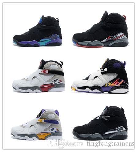 73008c3fb4c Hot Sale 2019 Cheap Basketball Shoes 8 8s Chrome Aqua Black Purple Mens 8s  Playoffs Three Peat Release Sneakers With Shoes Sport Shoes Mens Sneakers  From ...