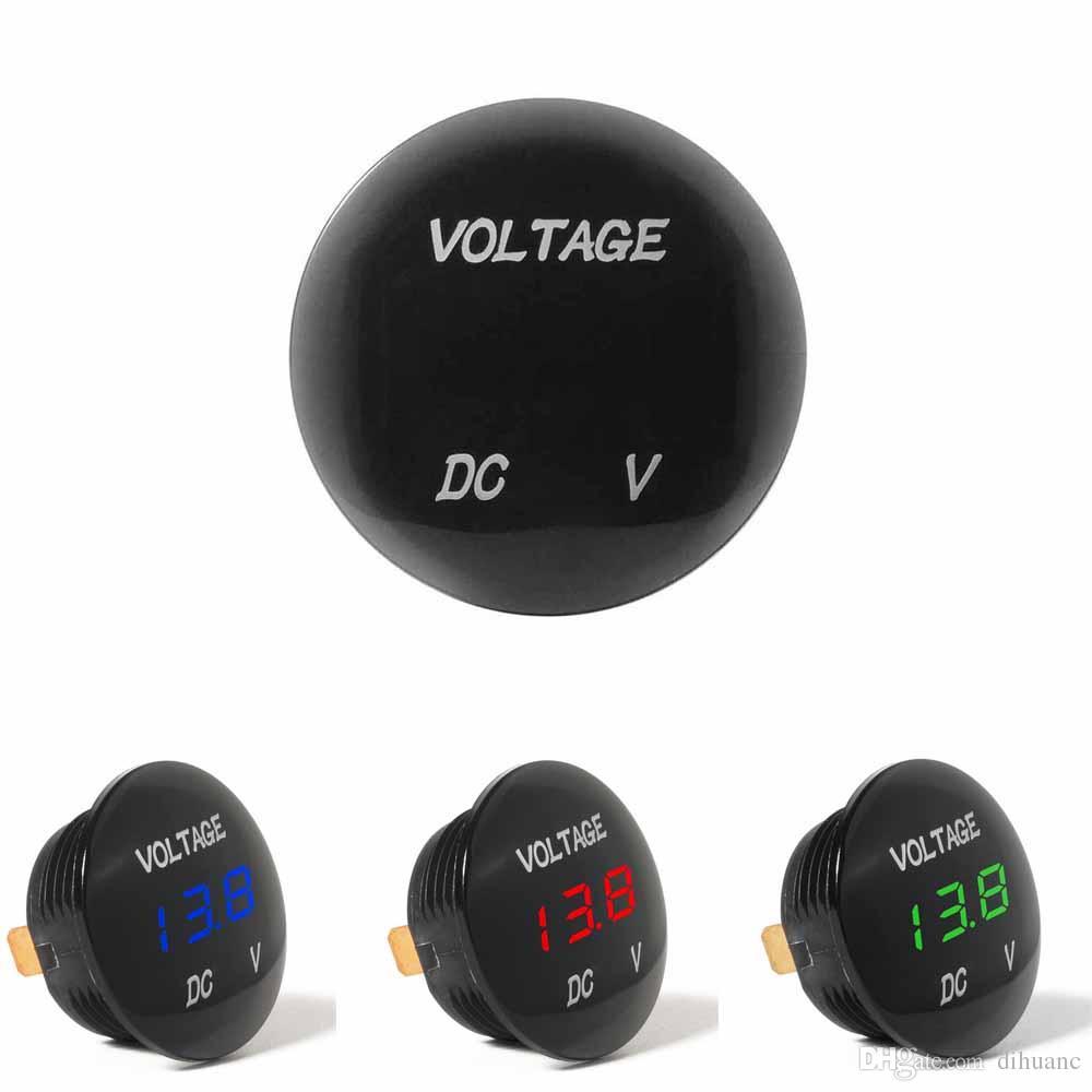 3f43539bb Compre Medidor De Voltagem Do Carro Voltímetro Medidor DC 12 V 24 V Painel  LED Digital Medidor De Volt Medidor Tester Monitor De Exibição À Prova D ' Água De ...