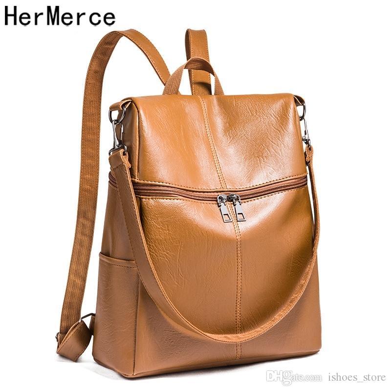 0b5ec067e301a1 High Quality Pu Leather Backpacks For Teenage Girls Female School Shoulder  Bags For Women 2019 Bagpack Mochila Daypack Rucksack #112295 Rucksacks  Bookbags ...