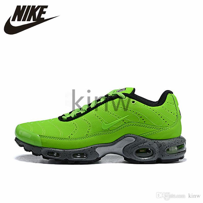 4d316ee8d4 Official Original Nike Air Max Plus Tn Ultra Se Men Women Green Breathable  Running Shoes Sports Sneakers Trainers outdoor shoes 815994-700 Trainers ...