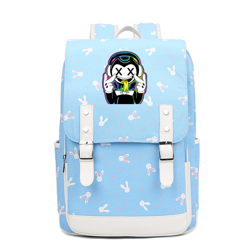 Hot Game Bendy and the Ink Machine Batim Printing Backpack Rabbits Design lady Pink Backpack Canvas School bag Laptop