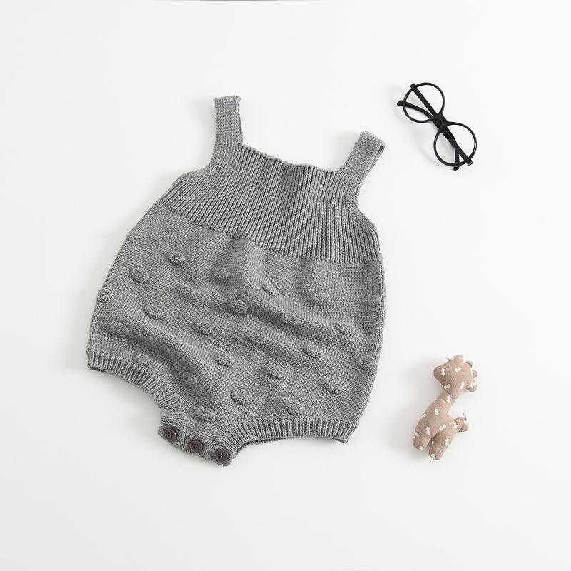 Cute Bubble Ball Baby Knitting Rompers Toddler Overalls Newborn Baby Boys Clothes Infantil Baby Girl Boy Romper Jumpsuit