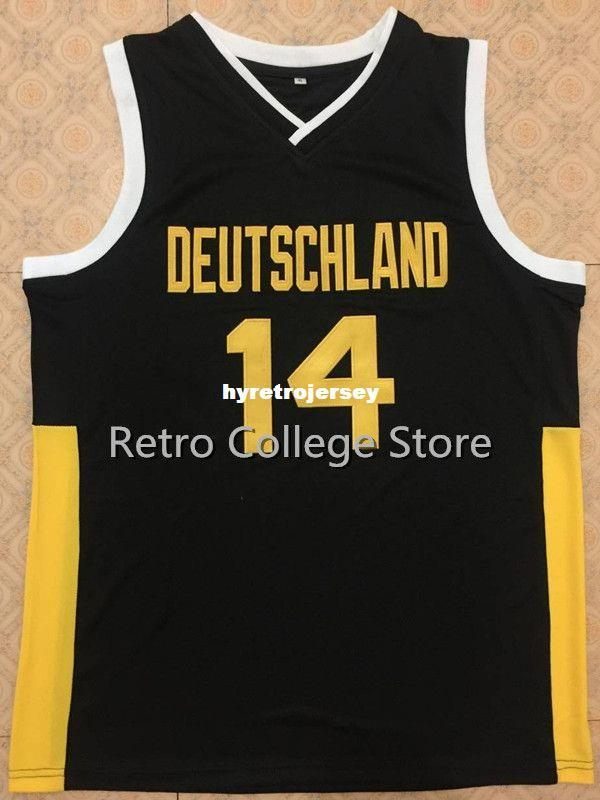 2019  14 Dirk Nowitzki TEAM DEUTSCHLAND GERMANY Basketball Jersey Black  Gold Top Mens XXS 6XL Retro Top Stitched Embroide XS 6XL Vest Jerseys From  ... b4667fad1