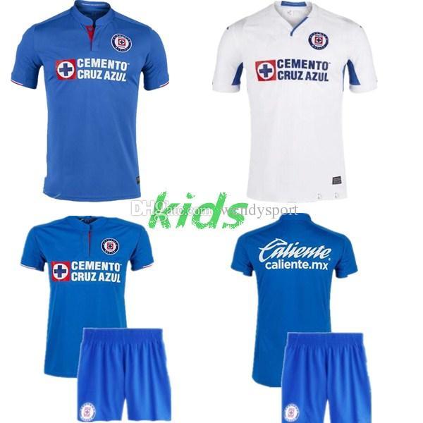 f10a9ff0b5f 2019 New 19 20 Cruz Azul Soccer Jersey Kids Kit Hernandez HOME Away MARCONE  BACA ALVARADO C. GIMENEZ MENDEZ Mexican LIGA MX Kids Football Unifor From  ...