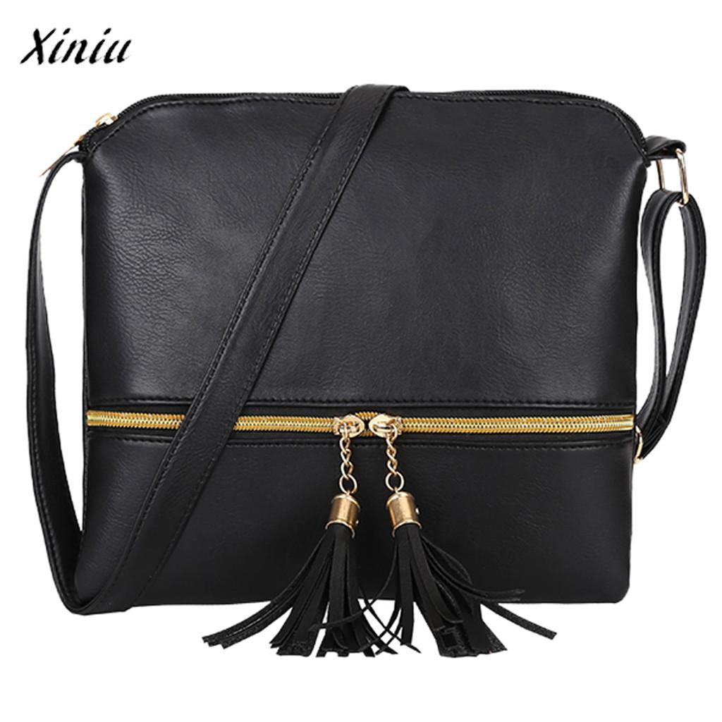 07e813e9201c Xiniu New Multi Colors Women Leather Tassel Mini Crossbody Chain Bag Pure Color  Shoulder Bags Messenger Bag New Brand Design Shoulder Bags Cheap Shoulder  ...