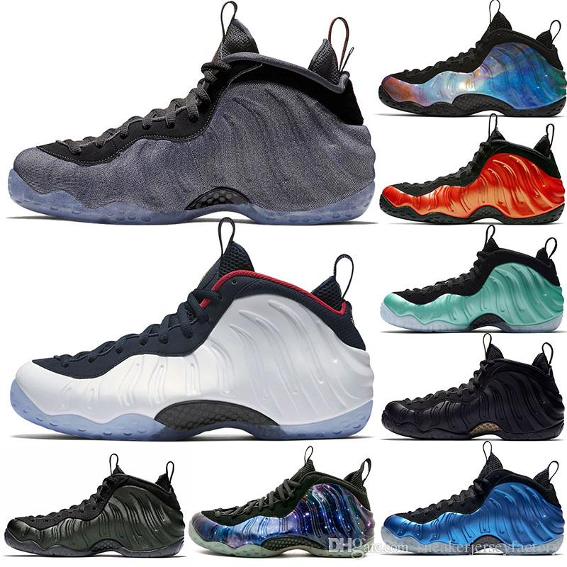 reputable site cc9b3 98197 2019 Penny Hardaway Foams One Olympic Denim Habanero Basketball Shoes Pro  Sequoia Eggplant Black Metallic Gold Men 2019 Authentic Sneakers Sports  From ...