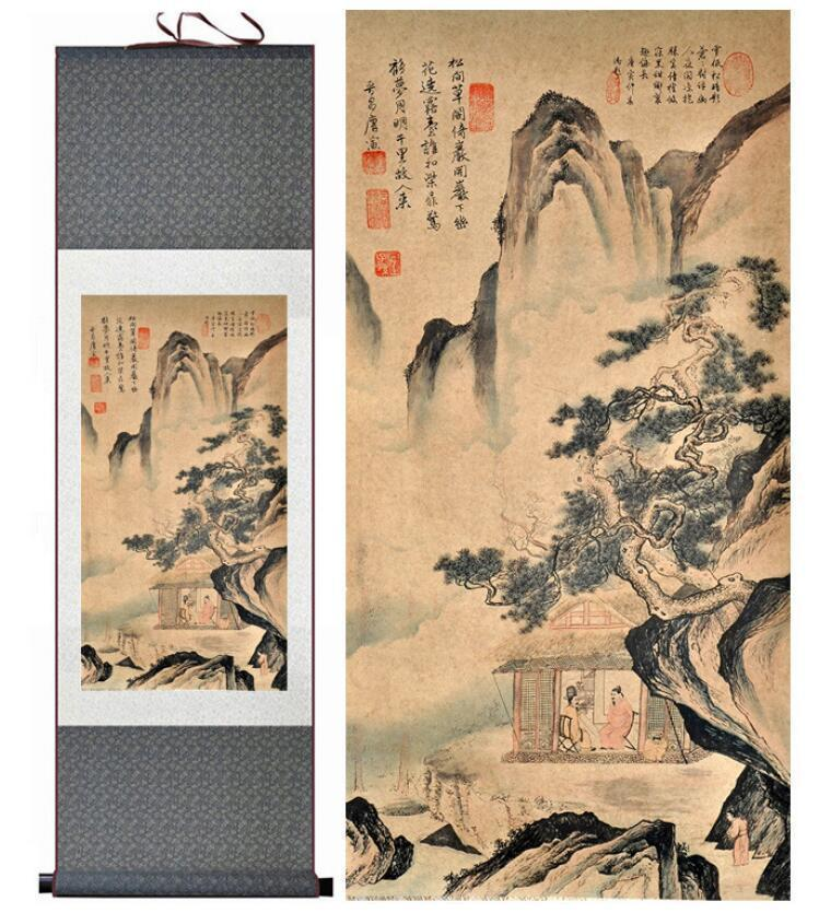 Traditional People Painting Chinese Scroll Painting Landscape Art Painting  Home Decoration Painting1906171146