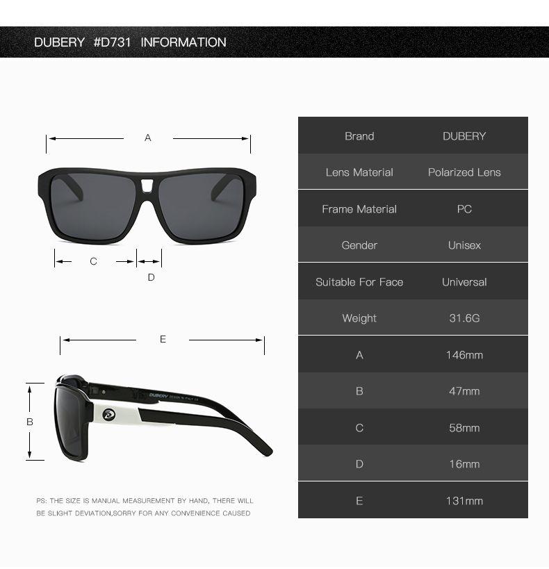 DUBERY Polarized Sunglasses Herren Aviation Driver Shades Herren Sonnenbrille Für Herren Original 2019 Luxus Designer Sonnenbrille THE JAM 008